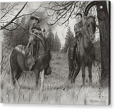 Young Rough Riders Acrylic Print
