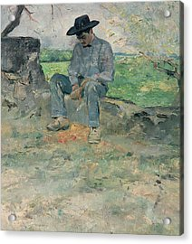 Young Routy At Celeyran Acrylic Print by Henri de Toulouse-Lautrec