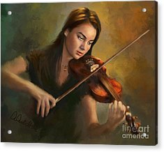 Young Soloist Acrylic Print
