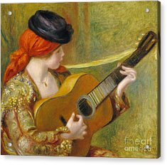 Young Spanish Woman With A Guitar Acrylic Print