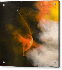 Young Star Bow Shock Near L.l. Ori Acrylic Print by Jim Ellis
