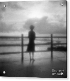Young Woman By Sea Early Morning Acrylic Print by Colin and Linda McKie