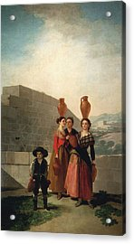 Young Women With Pitchers Acrylic Print