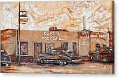 Young's Corral - Holbrook Az - Route 66 - The Mother Road Acrylic Print by Christine Till