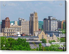 D39u-2 Youngstown Ohio Skyline Photo Acrylic Print
