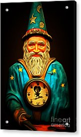 Your Fortune Be Told By The Wizard Fortune Telling Machine 7d144 Acrylic Print by Wingsdomain Art and Photography