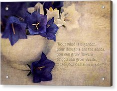 Your Mind Is A Garden... Acrylic Print by Maria Angelica Maira