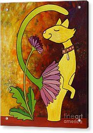 Your Regular Garden Variety Kinda Cat Acrylic Print