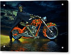 Your Ride Awaits Acrylic Print by Steven Agius