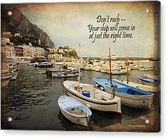 Your Ship Will Come In Acrylic Print