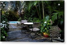Your Table Is Ready Acrylic Print by Claudette Bujold-Poirier