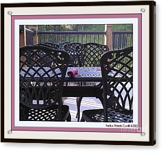 Acrylic Print featuring the digital art You're Invited by Angelia Hodges Clay