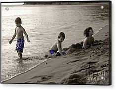 Youth At The Beach Acrylic Print