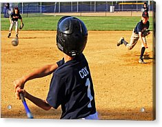 Youth Baseball Acrylic Print
