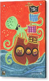 You've Been Pirated Acrylic Print by Kate Cosgrove