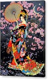 Yozakura Acrylic Print