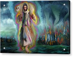 Yshuwh Yhwh Saves Acrylic Print by Hidden  Mountain