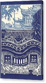 Yu Garden Rooftops Acrylic Print