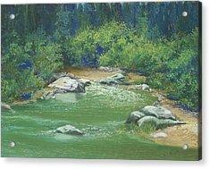 Yuba River California Acrylic Print by Martha J Davies