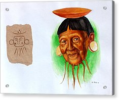 Yucahu Acrylic Print by Alejandra Baiz