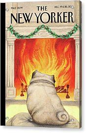 Yule Dog Acrylic Print