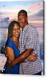Acrylic Print featuring the painting Yulonda And A J by Glenn Beasley