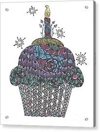 Yummy Cupcake Acrylic Print