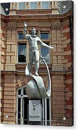 Yuri Gagarin Statue Acrylic Print by Martin Bond