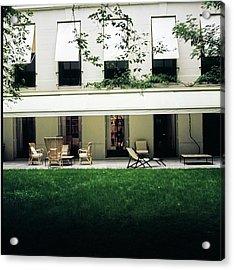Yves Saint Laurent's Patio Acrylic Print by Horst P. Horst