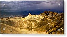 Zabriske Point Panorama 03 Acrylic Print