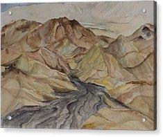 Zabriski Lookout Acrylic Print by Lynne Bolwell