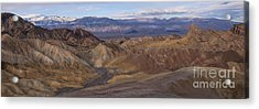 Zabriskie Point Sunrise - Death Valley National Park Acrylic Print by Sandra Bronstein