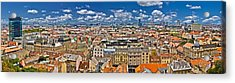 Zagreb Lower Town Colorful Panoramic View Acrylic Print