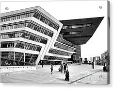 Zaha Hadid Library Center Wu Campus Vienna Acrylic Print by Menega Sabidussi