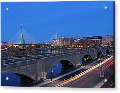 Zakim Bridge And Td Garden Acrylic Print by Juergen Roth