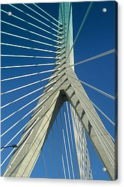 Zakim Bridge Boston Acrylic Print by Mary Bedy