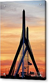 Zakim Bridge In Boston Acrylic Print