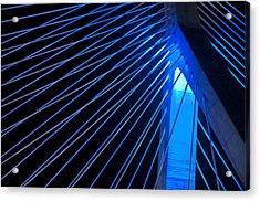 Zakim In Blue - Boston Acrylic Print by Joann Vitali