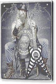 Zakk Wylde 2 Acrylic Print by Robert Rhoads