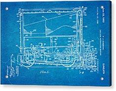 Zamboni Ice Rink Resurfacing Patent Art 1953 Blueprint Acrylic Print by Ian Monk