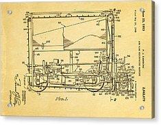 Zamboni Ice Rink Resurfacing Patent Art 1953 Acrylic Print by Ian Monk