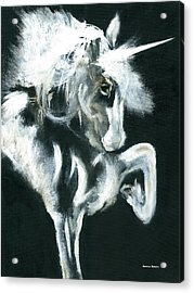 Acrylic Print featuring the painting Unicorn by Barbie Batson