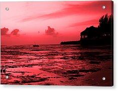 Zanzibar Sunrise Acrylic Print by Aidan Moran