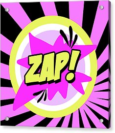 Zap Acrylic Print by Anna Quach