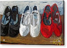 Zapatos De Flamenco Acrylic Print by Greg Mason Burns