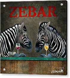 Zebar... Acrylic Print by Will Bullas