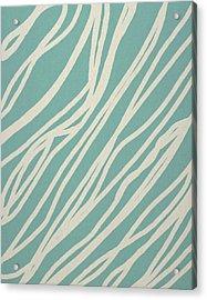 Zebra Acrylic Print by Aged Pixel