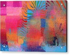 Zebra Art - Mtc077b Acrylic Print by Variance Collections