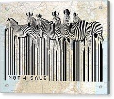 Zebra Barcode Acrylic Print by Sassan Filsoof