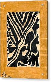 Zebra Acrylic Print by Carla Sa Fernandes